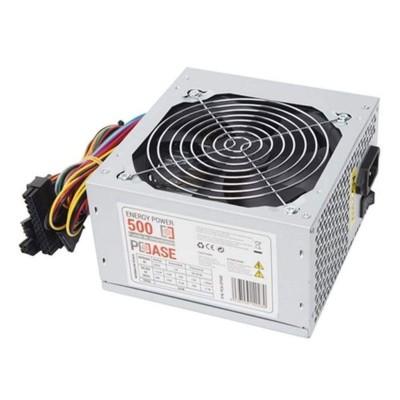 PCCASE EP-500 unidad de fuente de alimentación 500 W ATX Plata