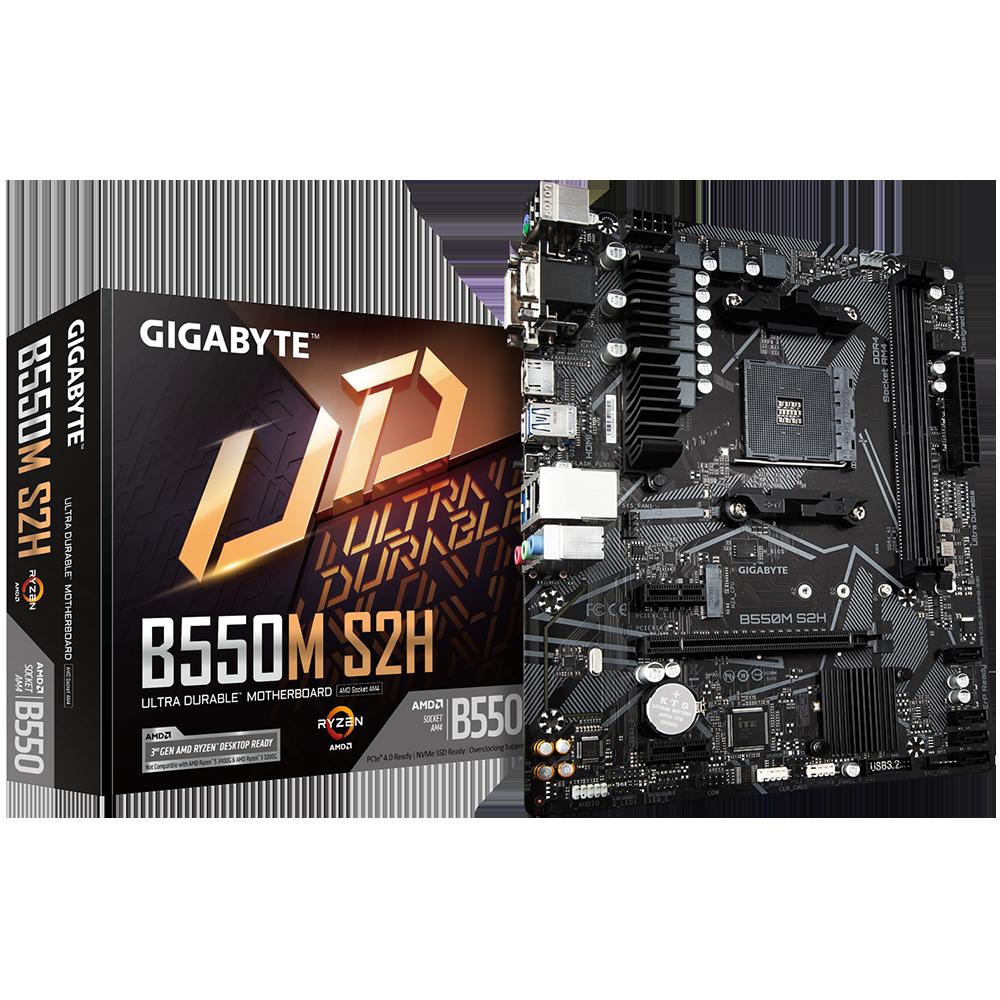 Gigabyte B550M S2H AMD Zócalo AM4 micro ATX