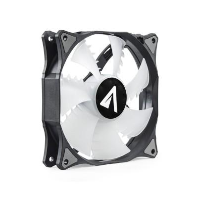 ABYSM RGB Sled Carcasa del ordenador Enfriador 12 cm Negro, Blanco