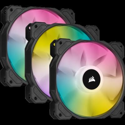 Corsair SP120 RGB ELITE Carcasa del ordenador Ventilador 12 cm Negro 3 pieza(s)