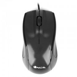 NGS Black Mist ratón USB Óptico 800 DPI mano derecha