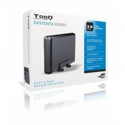 """TooQ CAJA HDD 3,5"""" SATA A USB 2.0 NEGRA"""