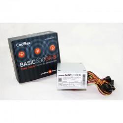CoolBox BASIC500GR-S unidad de fuente de alimentación 500 W SFX Blanco