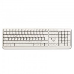 NGS Spike teclado USB QWERTY Blanco