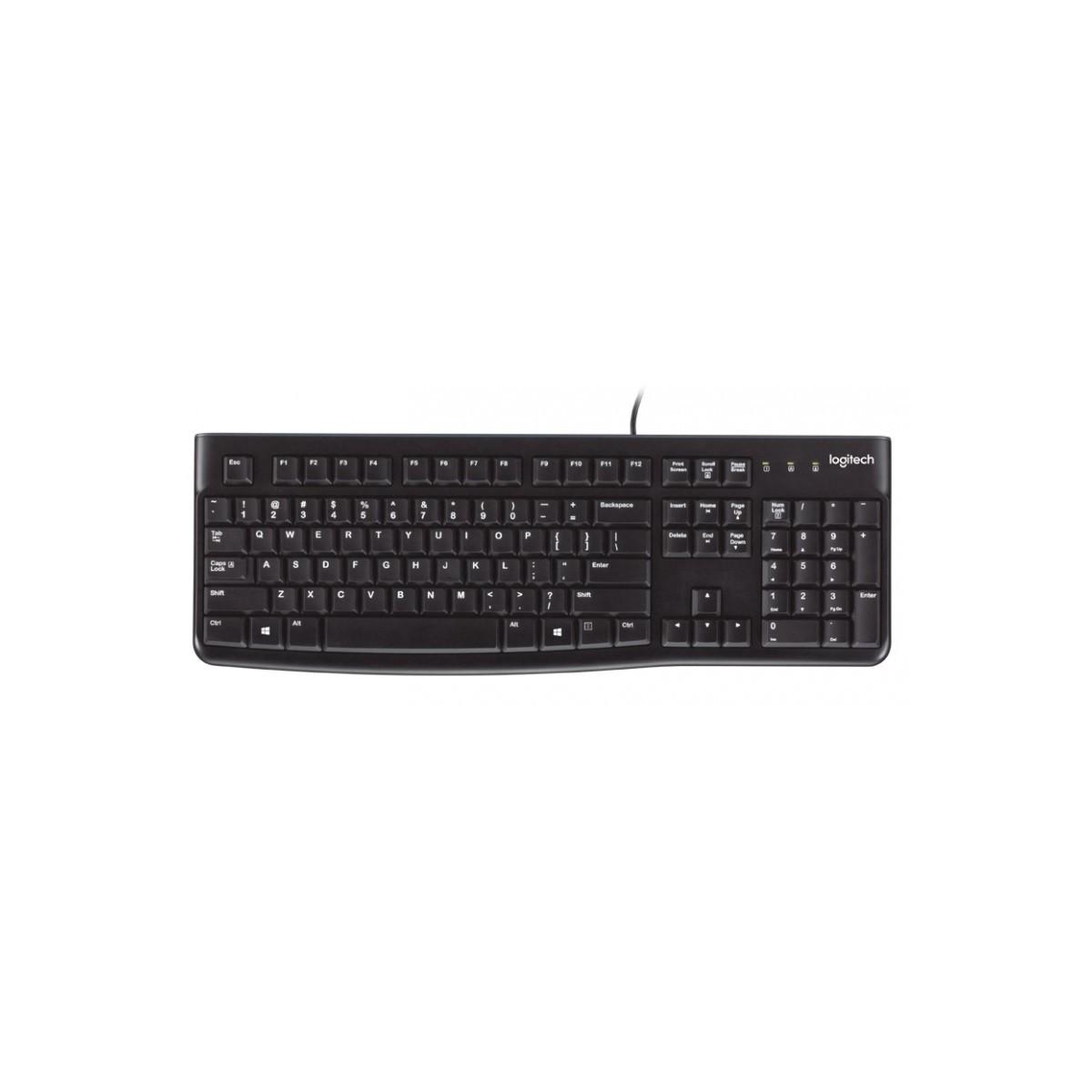 Logitech K120 teclado USB QWERTY Español Negro