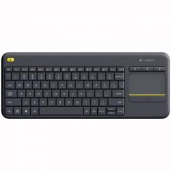 Logitech K400 Plus teclado RF inalámbrico QWERTY Español Negro