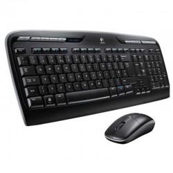 Logitech MK330 teclado RF inalámbrico QWERTY Español Negro, Gris